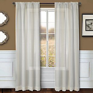 "Eleganz 84"" Metallic Sheer Panel Curtain, , large"