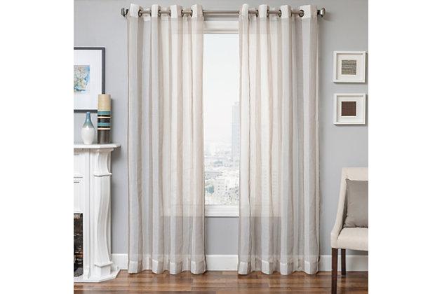 "Harbor 84"" Sheer Panel Curtain, , large"