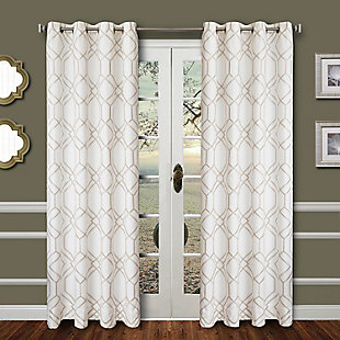 "Harleigh 84"" Embroidered Panel Curtain, , rollover"