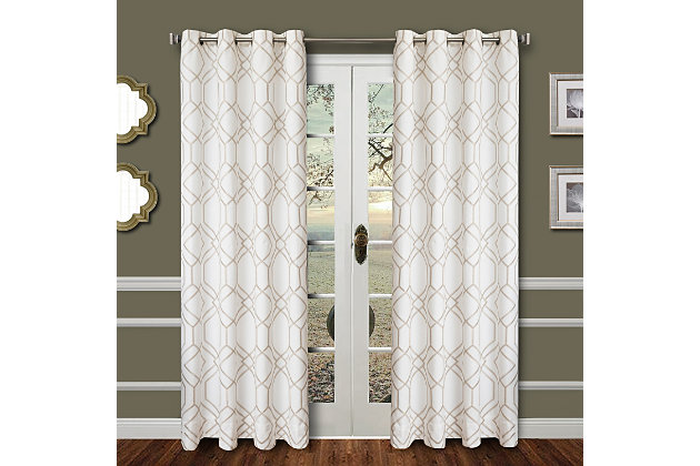 """Harleigh 84"""" Embroidered Panel Curtain, , large"""