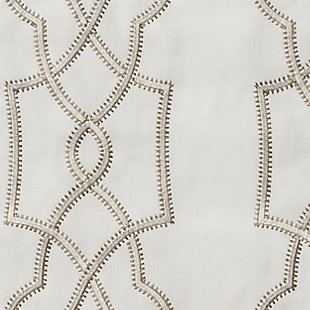"""Thane 84"""" Embroidered Panel Curtain, , large"""