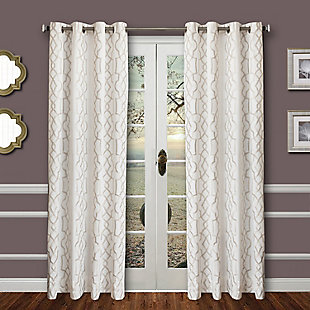 "Thane 84"" Embroidered Panel Curtain, , large"