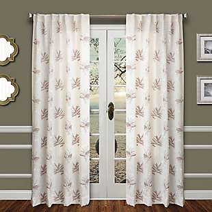 "Tropic 84"" Palm Panel Curtain, , large"