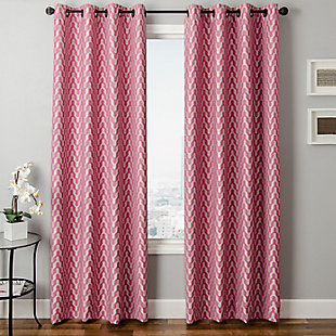 "Vaughn 84"" Jacquard Chevron Panel Curtain, , large"