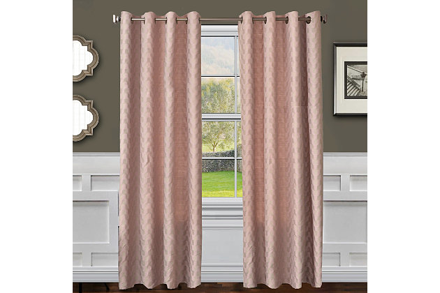 "Vaughn 84"" Jacquard Panel Curtain, , large"