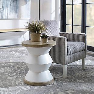 Uttermost Spool Geometric Side Table, , rollover