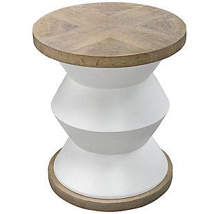 Uttermost Spool Geometric Side Table, , large