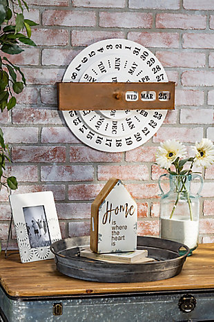 The Gerson Company Metal and Wood Decorative Signs (Set of 2), , rollover