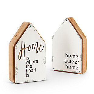 The Gerson Company Metal and Wood Decorative Signs (Set of 2), , large