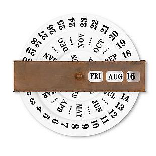 The Gerson Company Embossed Metal Perpetual Calendar, , large