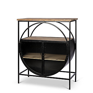Lone Elm Studios Bar Table with Glass Doors, , large