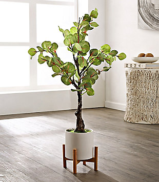 """Safavieh Faux Eucalyptus 34"""" Potted Tree, , rollover"""