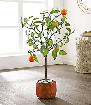 Safavieh Faux Orange Potted Tree, , rollover