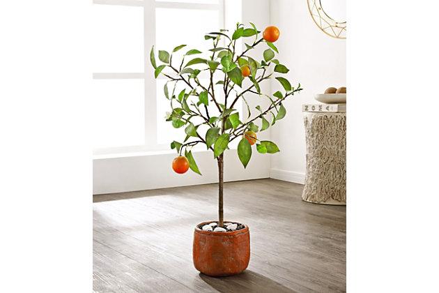 Safavieh Faux Orange Potted Tree, , large