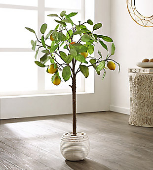 Safavieh Faux Lemon Potted Tree, , rollover