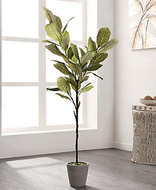 Safavieh Faux Magnolia Potted Tree, , rollover