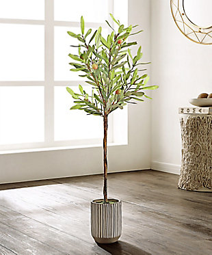 Safavieh Faux Olive Potted Tree, , rollover