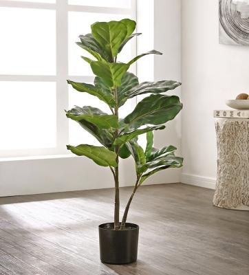 Safavieh Faux Ficus Lyrata Potted Tree, , large