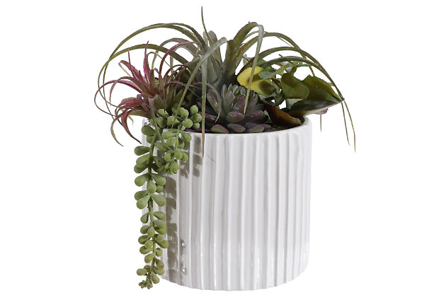 Safavieh Faux Mixed Succulent Potted Plant, , large