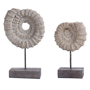Safavieh Lena Set of 2 Conch Shell Table Decor, , large