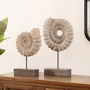 Safavieh Toren Set of 2 Conch Shell Table Decor, , rollover