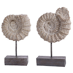 Safavieh Toren Set of 2 Conch Shell Table Decor, , large
