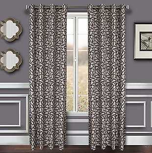"Basra 96"" Jacquard Tile Panel Curtain, , large"