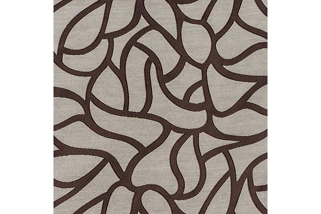"""Basra 96"""" Jacquard Tile Panel Curtain, Latte, large"""