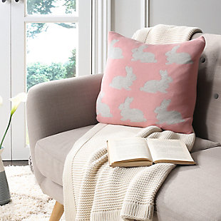 Safavieh Bunny Hop Knit Pillow, , rollover
