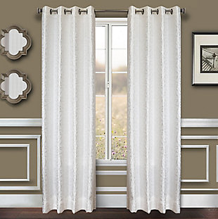 "Basra 96"" Jacquard Tile Panel Curtain, , rollover"