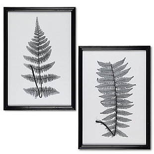 The Gerson Company Set of Two 28.35-in H Black and White Fern Wall Art, , large