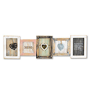 The Gerson Company 25.38in L Wood Heart Wall Art, , large