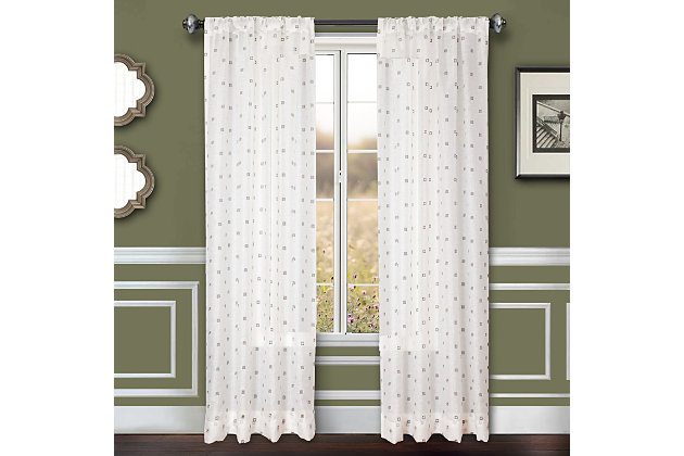 """Benson 96"""" Eyelet Panel Curtain, , large"""