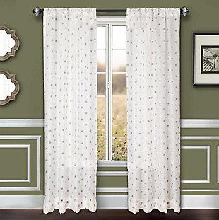 """Benson 96"""" Eyelet Panel Curtain, White Gray, large"""