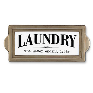 The Gerson Company 22-in L Battery Operated Lighted Metal Laundry Wall Sign, , large