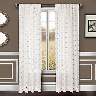 "Benson 96"" Eyelet Panel Curtain, White Natural, large"