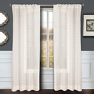 "Bizou 84"" Sheer Panel Curtain, Gold, rollover"
