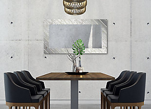 Heavy Effects  Driftwood Gray Bordered Digital Imaged Wall Mirror, , rollover