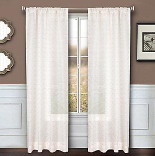 """Bizou 84"""" Sheer Panel Curtain, Rose Gold, large"""