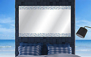 Heavy Effects  Blue Bubbled Double Boarded Digital Imaged Wall Mirror, , rollover