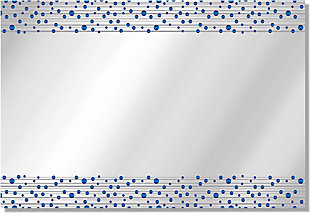 Heavy Effects  Blue Bubbled Double Boarded Digital Imaged Wall Mirror, , large