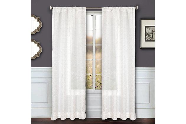 """Bizou 96"""" Sheer Panel Curtain, , large"""