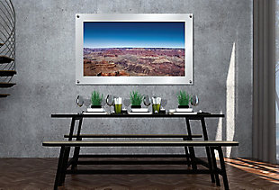 Heavy Effects  Grand Canyon Landscape Wall Decor White Etched Frosted Frame, Brown, rollover