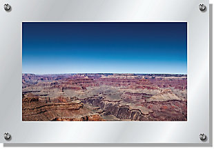 Heavy Effects  Grand Canyon Landscape Wall Decor White Etched Frosted Frame, Brown, large