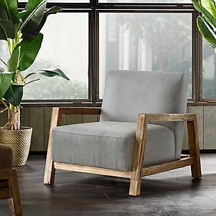 INK+IVY Easton Accent Chair, Gray, rollover