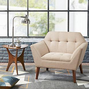 INK+IVY Newport Lounge Chair, Beige, rollover