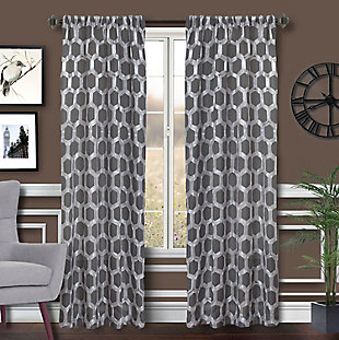 "Rochelle 96"" Sheer Panel Curtain, , large"