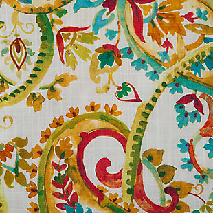 "Carlo 96"" Paisley Panel Curtain, Persimmon, large"