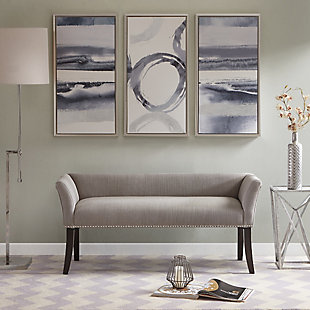Madison Park Welburn Accent Bench, Gray, rollover