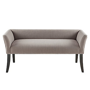 Madison Park Welburn Accent Bench, Gray, large